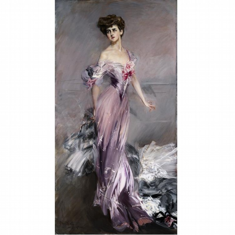 GIOVANNI BOLDINI ITALIAN, 1842-1931 PORTRAIT OF MRS. HOWARD JOHNSTON
