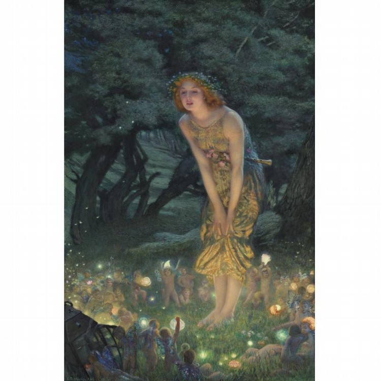 PROPERTY OF A LADY EDWARD ROBERT HUGHES R.W.S.   BRITISH, 1851-1914 MIDSUMMER EVE
