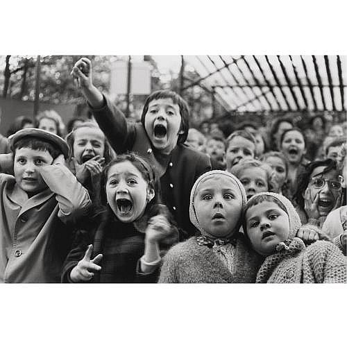 Alfred Eisenstaedt 1898-1995 , 'children at a puppet theatre, paris'