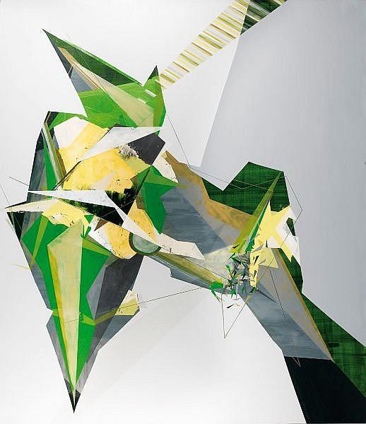 Dannielle Tegeder , n. 1971 Negreeyg technique mixte sur toile