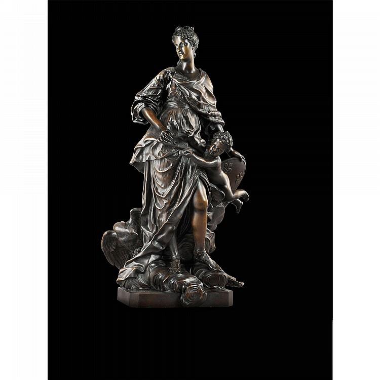MARIE LECZINSKA EN JUNON, FRANCE, XVIIIE SIÈCLE, D'APRÈS GUILLAUME COUSTOU (1677-1746)