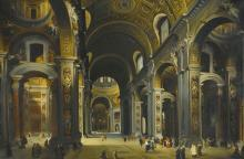 LOUIS HAGHE | Interior of St Peter's, Rome