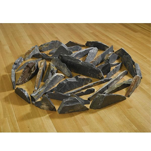 Richard Long , b. 1945 Standing Slate Winter Circle slate
