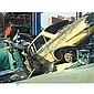 Richard Estes , b.1932 Auto Graveyard oil on canvas   , Richard Estes, Click for value