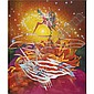 James Rosenquist , b. 1933 The Bird of Paradise Approaches the Hot Water Planet oil and acrylic on canvas, in 2 parts   , James Rosenquist, Click for value