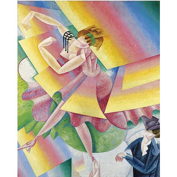 - Gino Severini , 1883-1966 DANSEUSE   oil on canvas