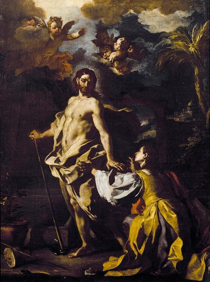 THE PROPERTY OF A PRIVATE COLLECTOR f - FRANCESCO SOLIMENA CANALE DI SERINO 1657 - 1747 BARRA NOLI