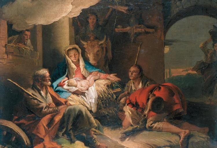 THE PROPERTY OF A LADY GIANDOMENICO TIEPOLO VENICE 1727 - 1804 THE ADORATION OF THE SHEPHERDS