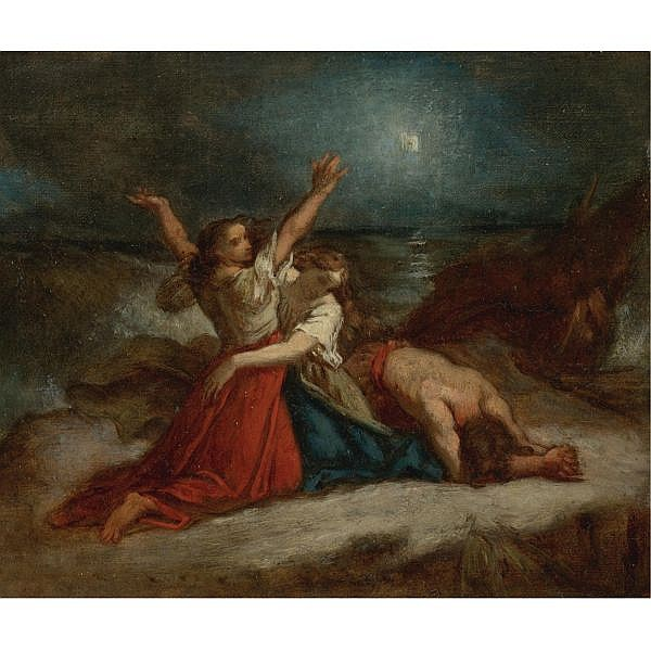Thomas Couture , French 1815-1879 Study for Stella Maris oil on canvas