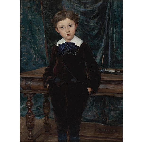 Jules Bastien-Lepage , French 1848-1884 Le Petit Lord oil on canvas