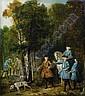 Jean-Baptiste Oudry , Paris 1686 - 1755 Beauvais   Louis XV tenant en laisse un limier Huile sur toile     , Jean-Baptiste Oudry, Click for value
