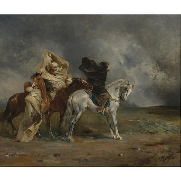 Eugène Fromentin , French 1820-1876 Le Simoun oil on canvas