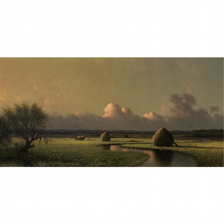 MARTIN JOHNSON HEADE 1819-1904 SUNNY DAY ON THE MARSH (NEWBURYPORT MEADOWS)