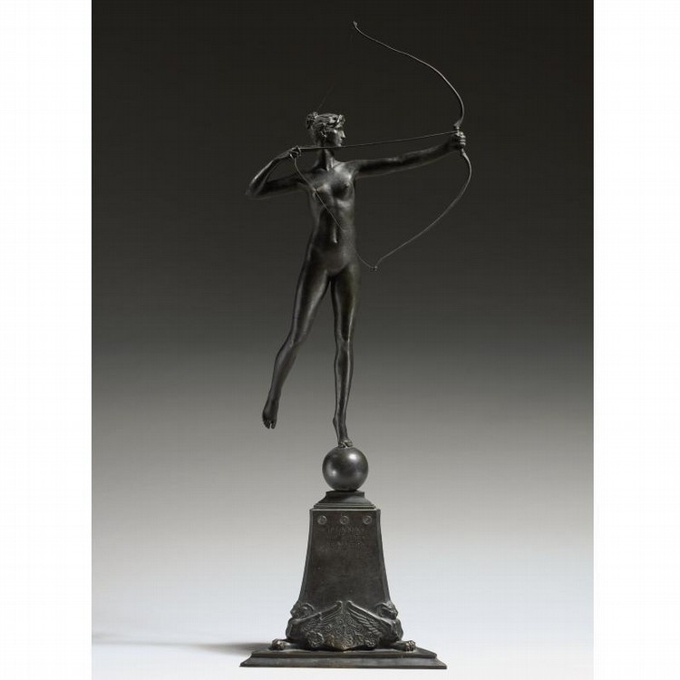 AUGUSTUS SAINT-GAUDENS 1848-1907 DIANA OF THE TOWER