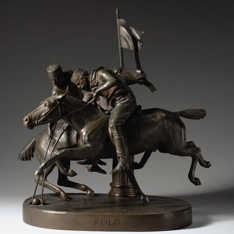 PROPERTY FROM THE CHARLES R. WOOD FOUNDATION u - JOHN ROGERS 1829-1904 POLO