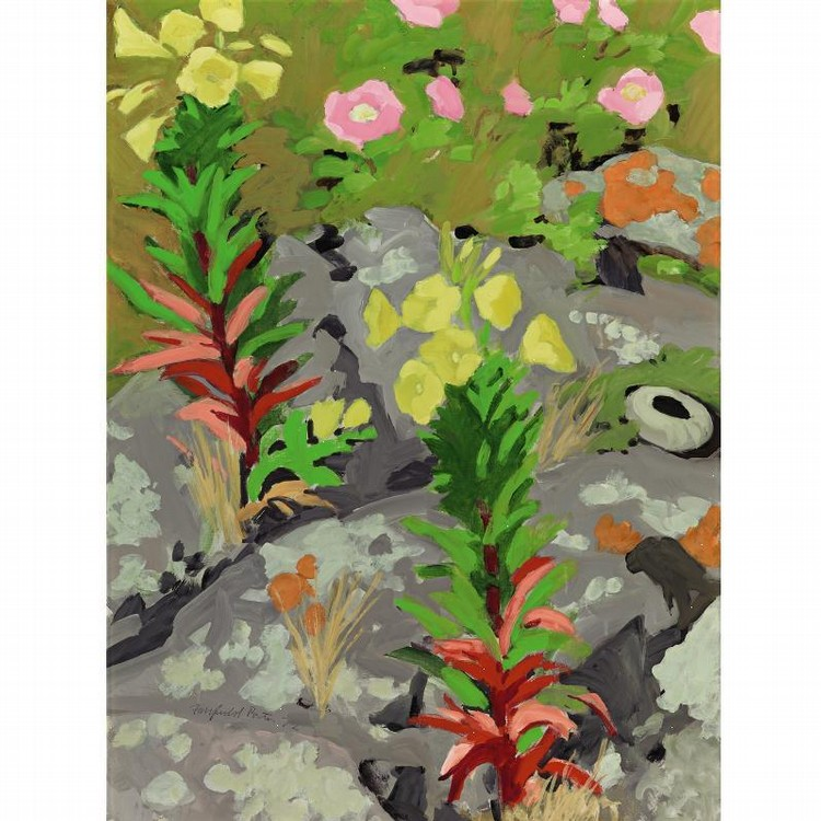 PROPERTY FROM THE COLLECTION OF READER'S DIGEST FAIRFIELD PORTER 1907-1975 LICHENS, WILD ROSES AND
