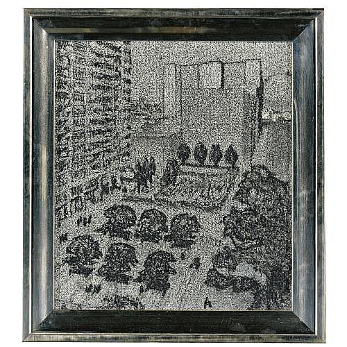 Richard Artschwager , Untitled (U.N. Plaza)