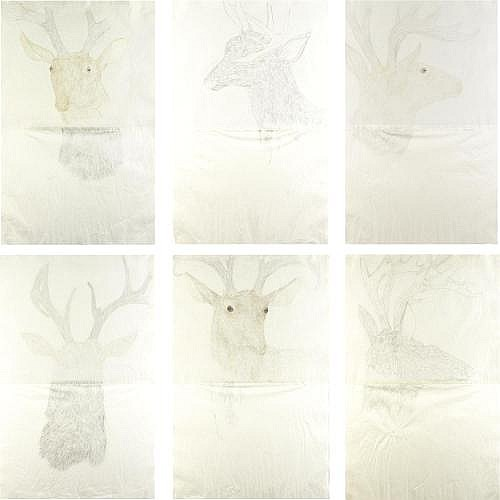 Kiki Smith , Deer Drawings
