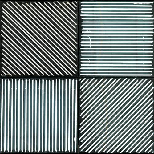 François Morellet , 4 panneaux avec 4 rythmes d'éclairage interférents