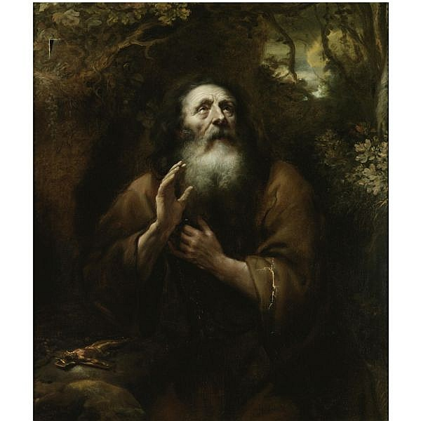 Jürgen Ovens , Tönning, Schleswig-Holstein 1623 - 1678 Friedrichstadt A hermit saint oil on canvas