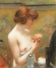 HENRI GERVEX | Jeune femme à sa toilette