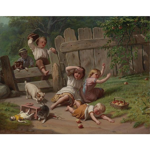 Benjamin Franklin Reinhart 1829-1885 , The Chase oil on panel