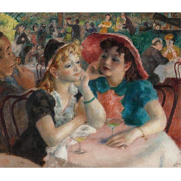Robert Philipp 1895-1981 , At five oil on canvas