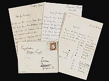 R. STRAUSS, THREE AUTOGRAPH LETTERS, 1898-1908