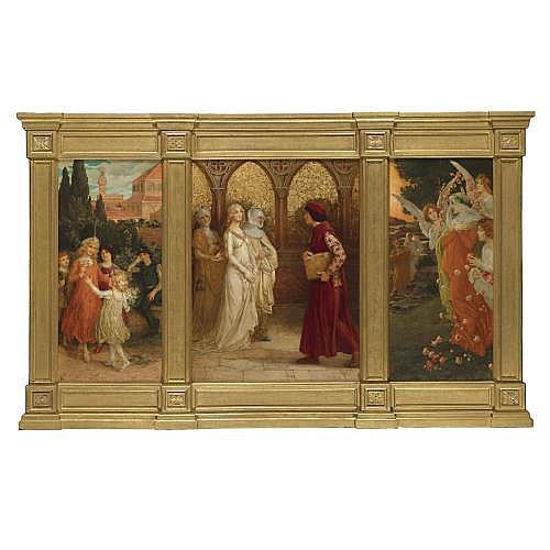 Elisabeth Sonrel , scenes from dante alighieri's ?la vita nuova?