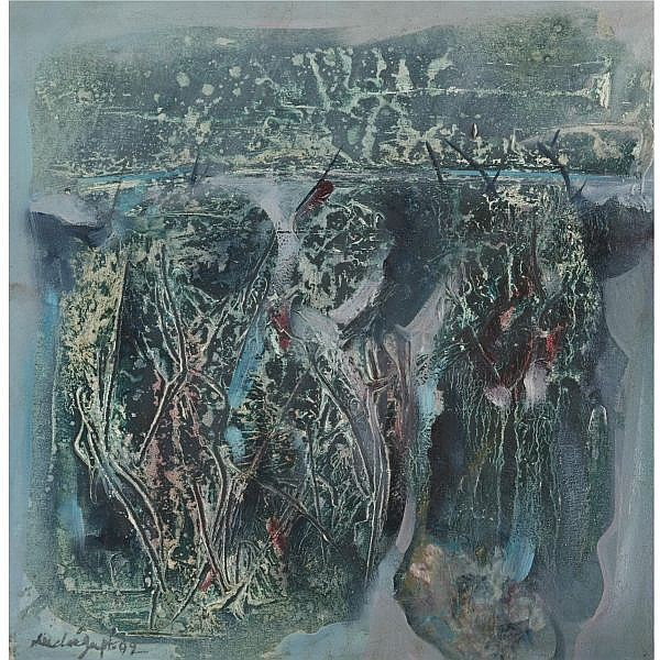 Dilip Dasgupta (b. 1931) , Untitled Mixed media on canvas