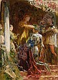 SIR FRANCIS BERNARD DICKSEE, P.R.A. 1853-1928 VICTORY, A KNIGHT BEING CROWNED WITH A LAUREL-WREATH