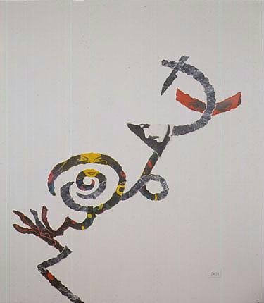 Annette Messager b. 1943 Le Varieta acrylic and photographs on paper mounted on canvas overall: 69 b...
