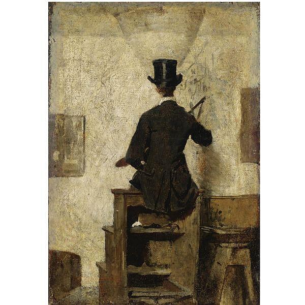 Giacomo Favretto , (Venezia 1849 - 1887) il pittore olio su tela