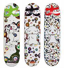 TAKASHI MURAKAMI | BunBu-Kun, Ponchi-Kun, Shimon-Kun: 3 Skatedecks