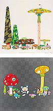 TAKASHI MURAKAMI | Into the Dream, Jumbo Corn Head Mushroom <em>and</em> Guru Guru: 2 Prints