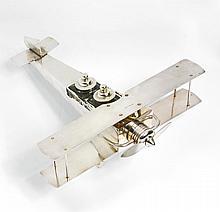 BELGIAN ART DECO AIRPLANE INKSTAND | Belgian Art Deco Airplane Inkstand