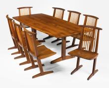 "GEORGE NAKASHIMA   Eight ""Conoid"" Chairs"
