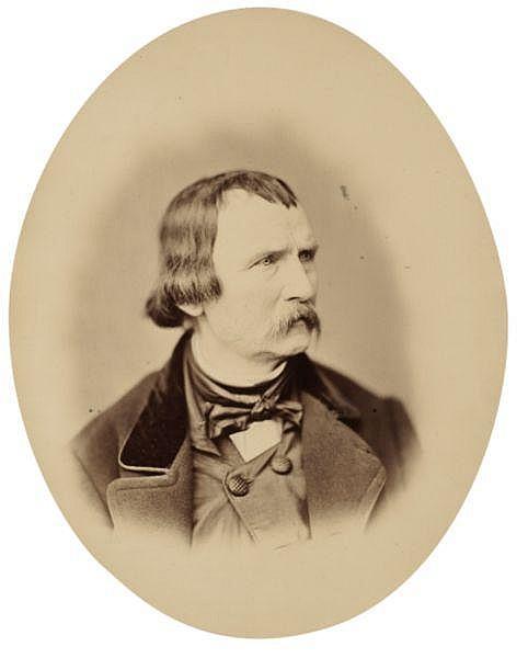 Franz Hanfstaengl (1804-1877) , Portrait de Wilhelm von Kaulbach, vers 1856