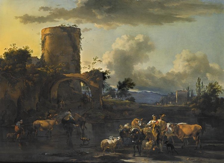 CLAES PIETERSZ. BERCHEM HAARLEM 1620 - 1683 AMSTERDAM