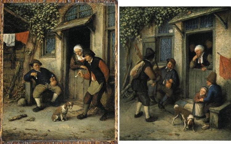 f - ADRIAEN JANSZ. VAN OSTADE HAARLEM 1610 - 1685