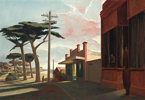 RICK AMOR , EVENING BY THE SEA Oil on canvas