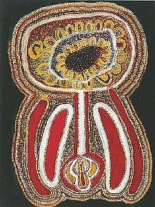 TOMMY SKEEN TJAKAMARRA BORN CIRCA 1932 UNDALARRA 1993 121 by 91 cm Synthetic polymer paint on canvas Bears artist's name 'Thomas Skeen', size and Warlayirti Artists catalogue number 119/93 on the reverse Provenance: Painted in 1993 at Wirrimanu