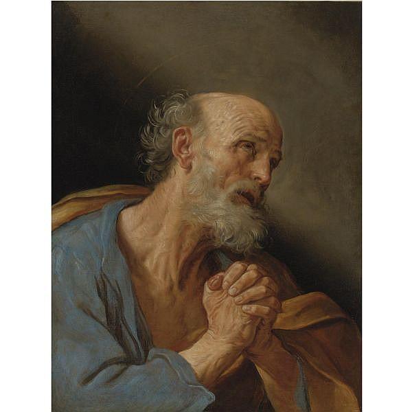 Guido Reni , Calvenzano di Vergato 1575 - 1642 Bologna   The Penitent Saint Peter oil on canvas