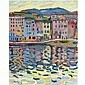 f - Auguste Herbin , 1882-1960 QUAI DU PORT DE BASTIA oil on canvas, Auguste Herbin, Click for value