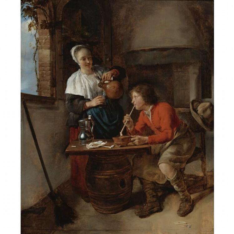 GABRIEL METSU LEIDEN 1629 - 1669 AMSTERDAM