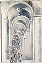PAUL NASH 1889-1946 MIRRORED HALL WITH CONVOLVULUS, Paul Nash, Click for value