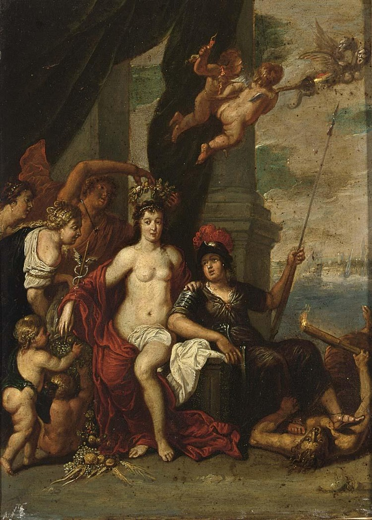 ATTRIBUTED TO JAN THOMAS YPRES 1617 - 1673 VIENNA