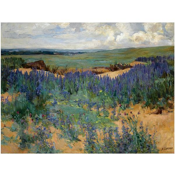 Mary Cameron , 1865 - 1921 gullane golf course oil on canvas