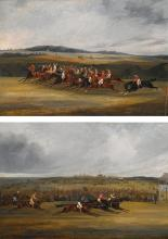 HENRY THOMAS ALKEN SNR. | The start of the 1849 derby; and Winning the 1849 derby