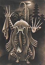MIGUEL COVARRUBIAS<BR>(1904 - 1957) | Rangda (Reina de las brujas)